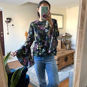 Catherine malandrino bell sleeve blouse